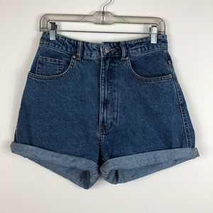 ZARA Mom Wedgie Medium Wash Shorts Size 6